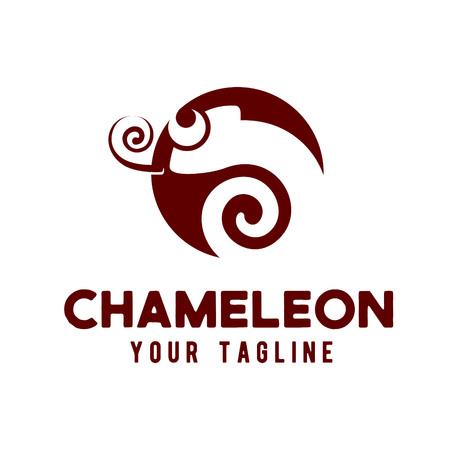 Chameleon logo design concept