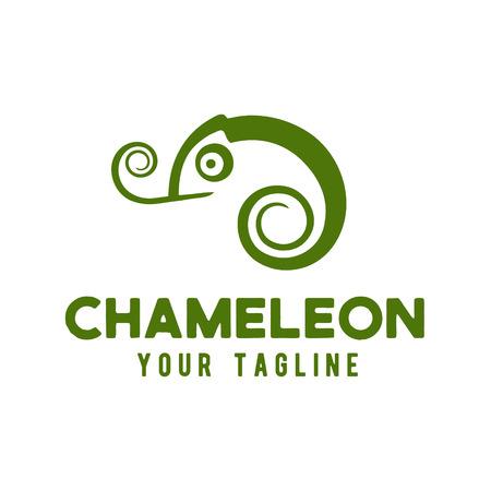 Chameleon logo design template vector illustration Фото со стока - 119348853