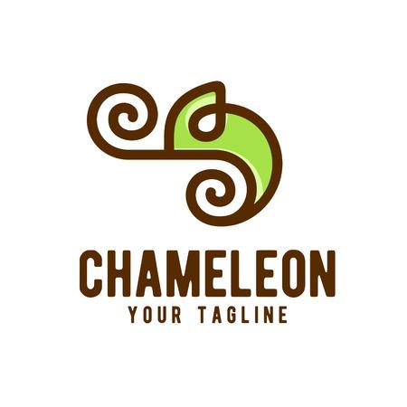 Chameleon Logo Design Vector Иллюстрация