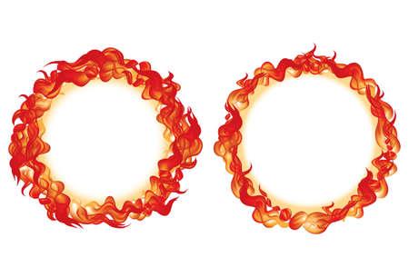 Circle Fire vector illustration
