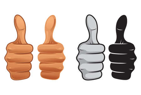 Thumb Up icon set 矢量图像