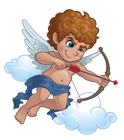Cupid with a Bow and Arrows Vector Illustration eps 10