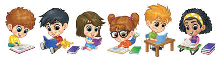 Children Reading Books collection