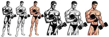 Male Bodybuilder Full Body