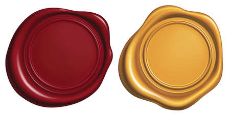 Red and Golden Wax Seal