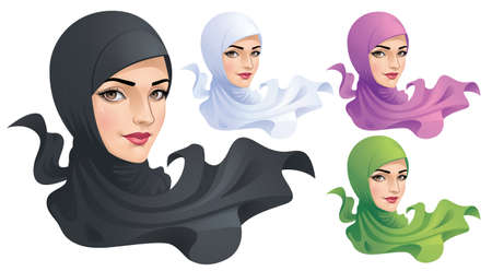 A Muslim Woman with Hijab