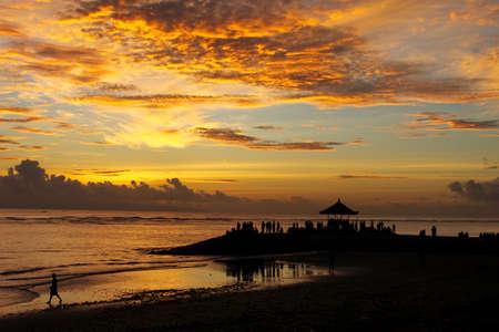 sanur: sunrise at sanur beach bali indonesia