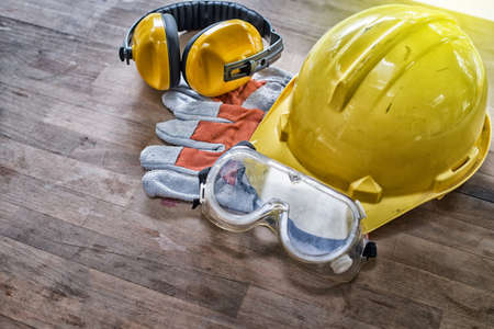 Standard construction safety equipment High Dynamic Range tone Stock Photo