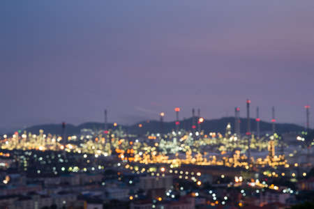 Blur oil refinery plant,Bokeh,Oil Refinery, Night refinery, Turn on the light