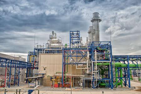 Electric turbine generator in power plant,High Dynamic Range tone