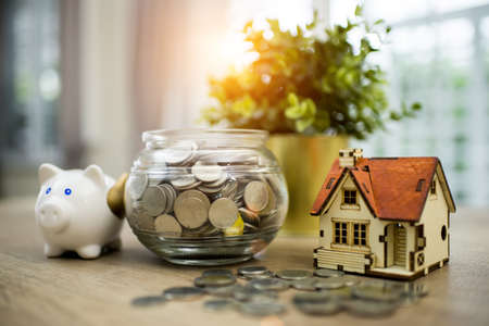 Business, finance, saving money, property loan or mortgage concept