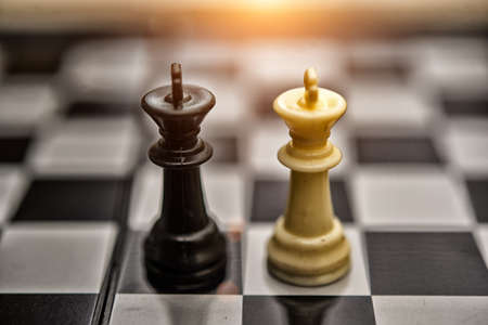 Chess Kings - business concept series - merger,High dynamic range tone