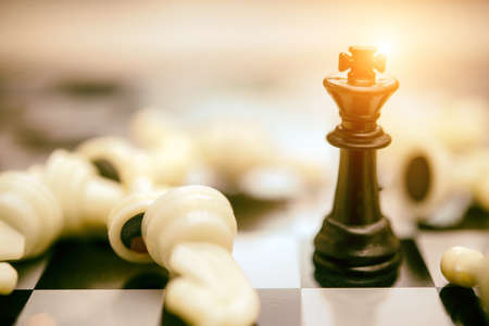 Chess business, leader &  success concept,warm tone