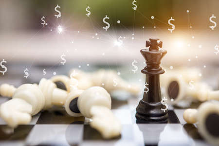 Chess business, leader &  success concept