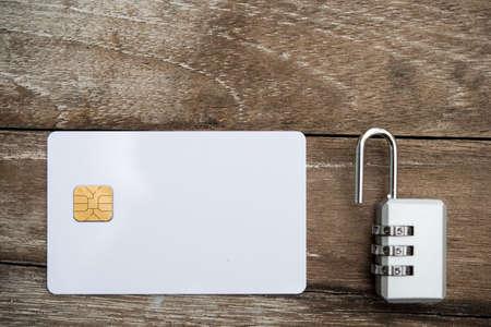 Unlock credit card,business concept