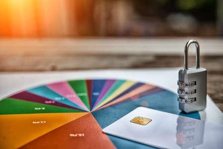 Financial analysis, lock accounting, statistics, investment, sales analysis of the company,High dynamic range tone 免版税图像