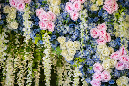 wedding flowers for decoration on backdrop