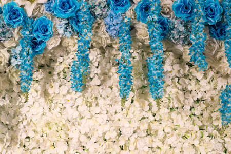 White flowers decorative background 免版税图像 - 126456006