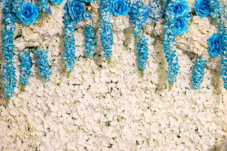 White flowers decorative background 免版税图像 - 126456009