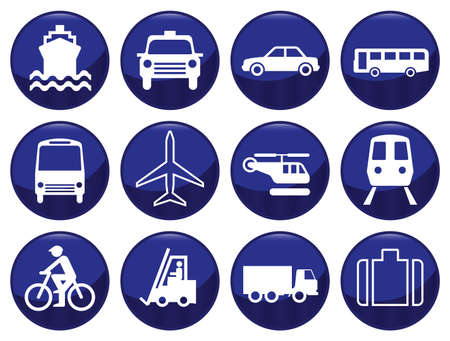 Transport icon set each icon individually layered Vector