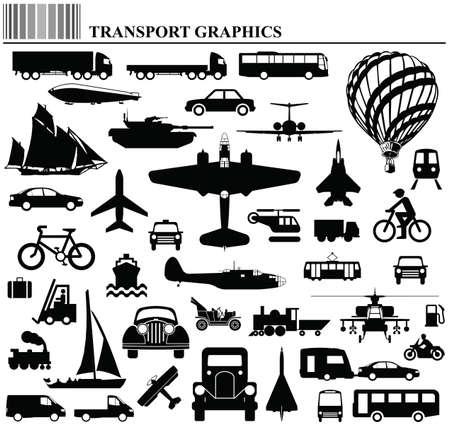 motor de carro: Modos de transporte colecci�n gr�fica individualmente en capas