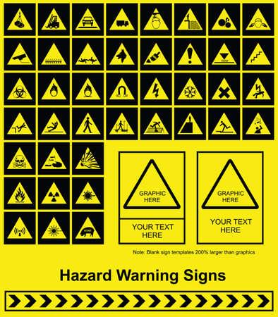 industrial safety: Advertencia de peligro signo gr�ficos individualmente en capas Vectores