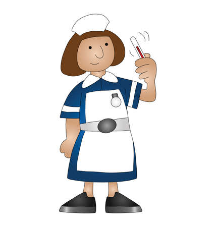Cartoon medical nurse isolated on white background  Stock Vector - 8576414