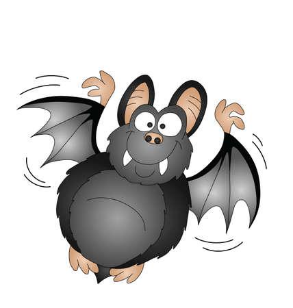gruselig: Halloween Cartoon Vampire Bat isolated on white background