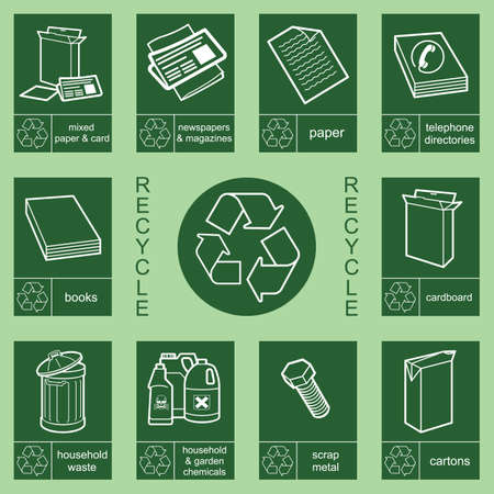 biodegradable: Individually layered recycling sign collection 3