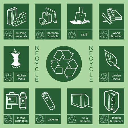 rubble: Individualmente en capas reciclaje de colecci�n de signo 4