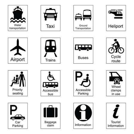 Openbare informatie tekenen collectie 1 vervoer