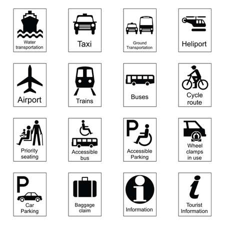 Public Information Signs Collection 1 Transport Stock Vector - 8599828