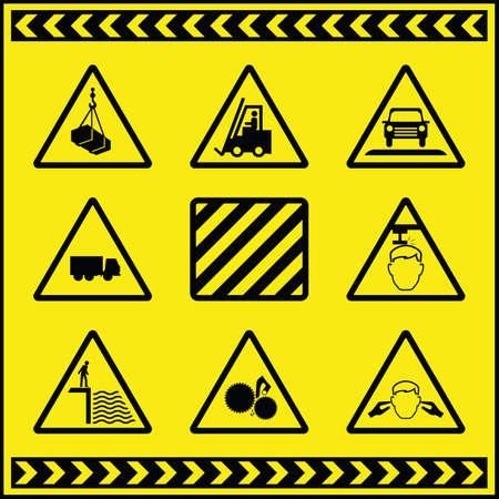 Hazard Warning Signs 1 Stock Vector - 8599823