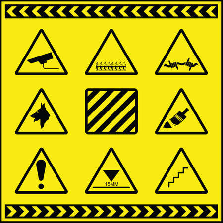 Hazard Warning Signs 2 Stock Vector - 8599817