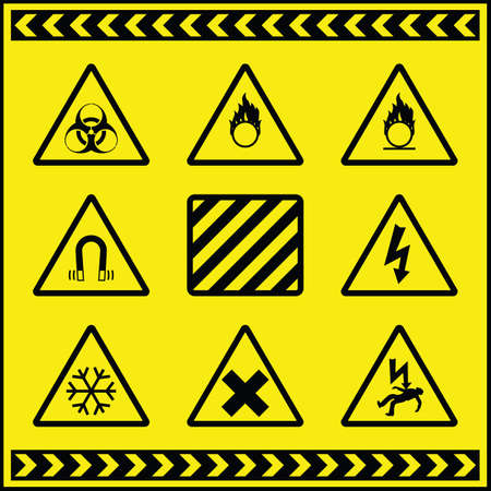 Hazard Warning Signs 3 Stock Vector - 8599820