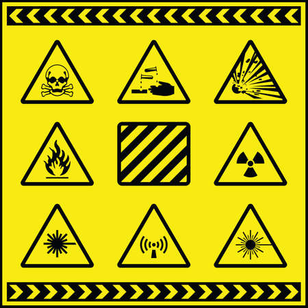 Hazard Warning Signs 5 Vector
