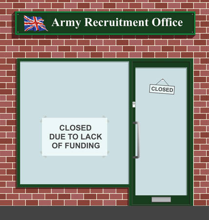 Army recruitment office closed due to lack of funding Stock Vector - 8599866