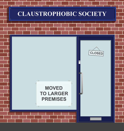 claustrophobia: The Claustrophobic Society moves to larger premises