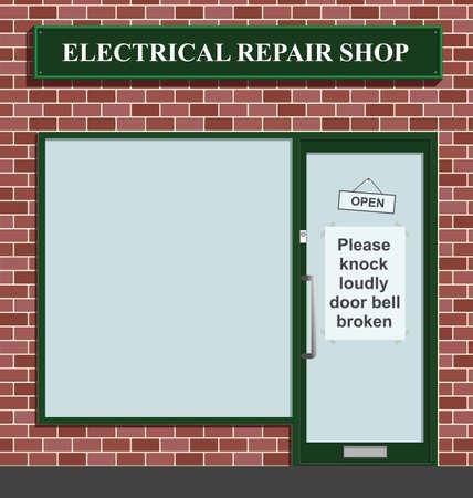 repair shop: Timbre roto en el taller de reparaciones el�ctricas