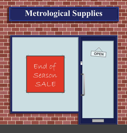 The Metrological Supplies shop has an end of season sale  Stock Vector - 8614012