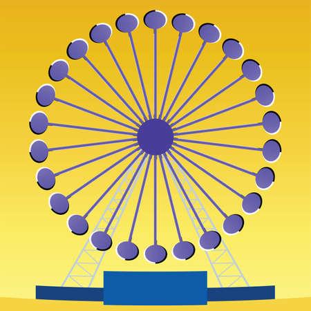 ferris wheel: Optical illusion Ferris wheel with perceived clockwise rotation  Illustration