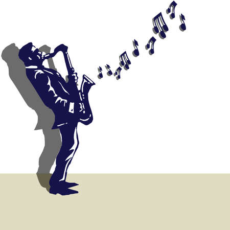 melodious: Musician playing the saxophone