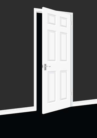 Open Door Stock Vector - 8614015