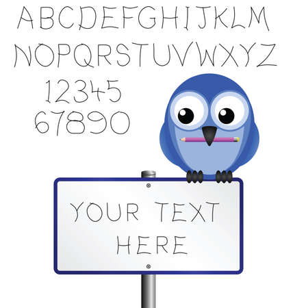 Sign and alphabet copy space for own text Stock Vector - 9163519