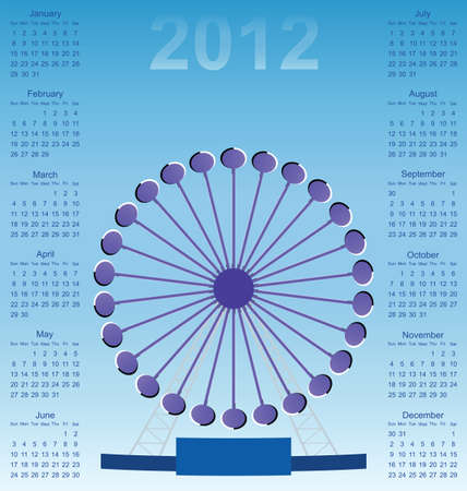 perceived: 2012 calendar Optical illusion Ferris wheel with perceived clockwise rotation