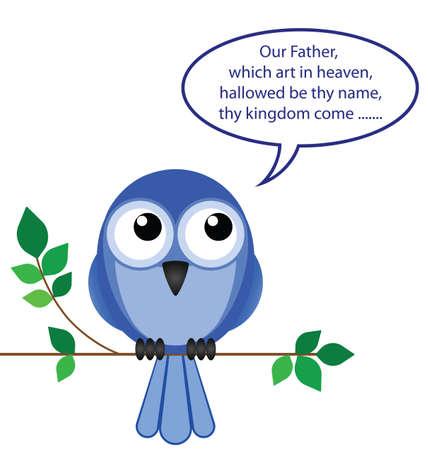 prayer: Comical take on a bird of pray
