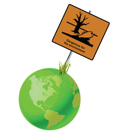 pollutant: Green earth dangerous to the environment sign