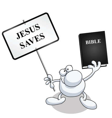 holy book: Man holding blank sign with copy space for own text