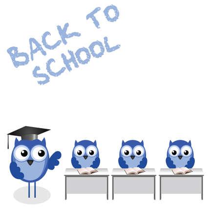 tutor: Los alumnos y el profesor b�ho regreso a la escuela