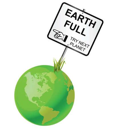 poblacion: Concepto de capacidad de la tierra para mantener la poblaci�n humana Vectores